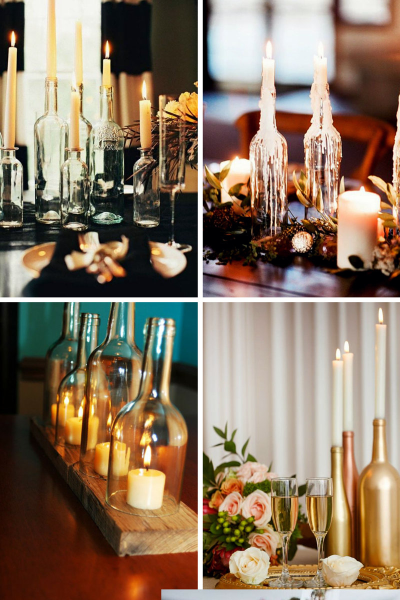 Wine Bottle Wedding Decor With Candles My First Suggestion For Bottles Centerpieces