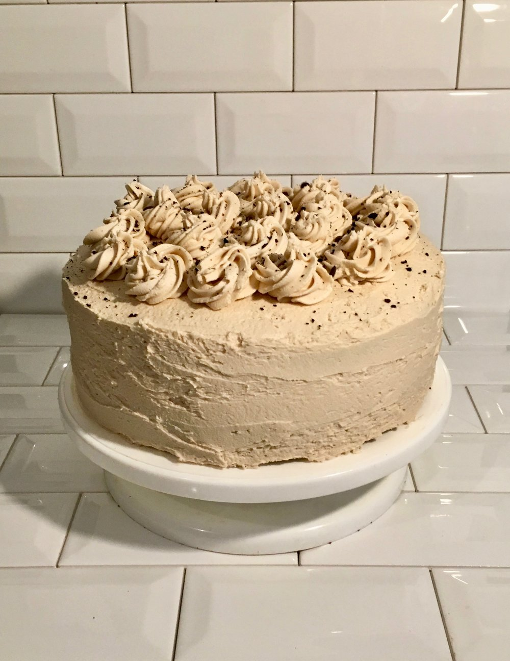 The-best-chocolate-cake-Mocha Espresso Cake-vegan-the-daily-bubbly