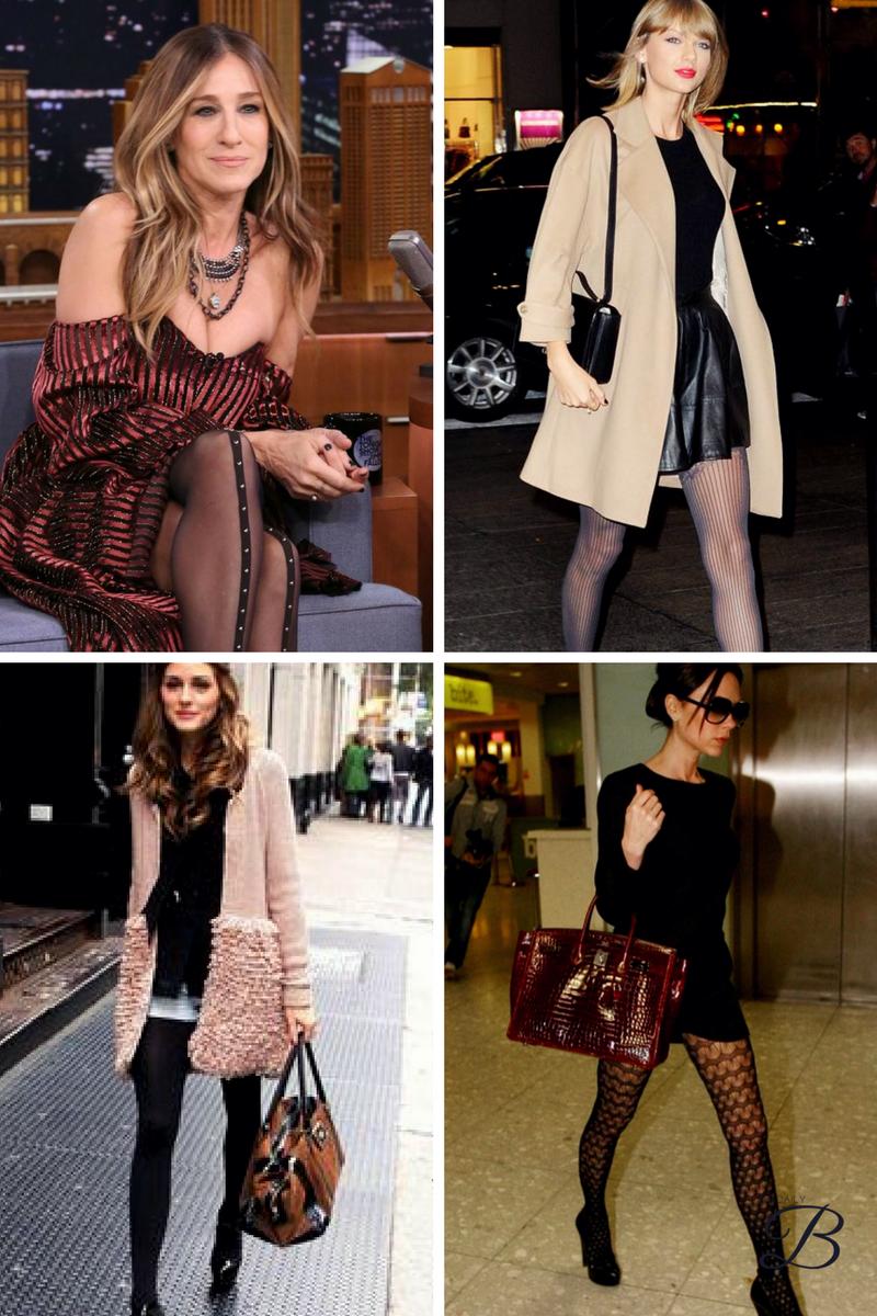 1.  Sarah Jessica Parker    2.  Taylor Swift   3.  Olivia Palermo   4.  Victoria Beckham