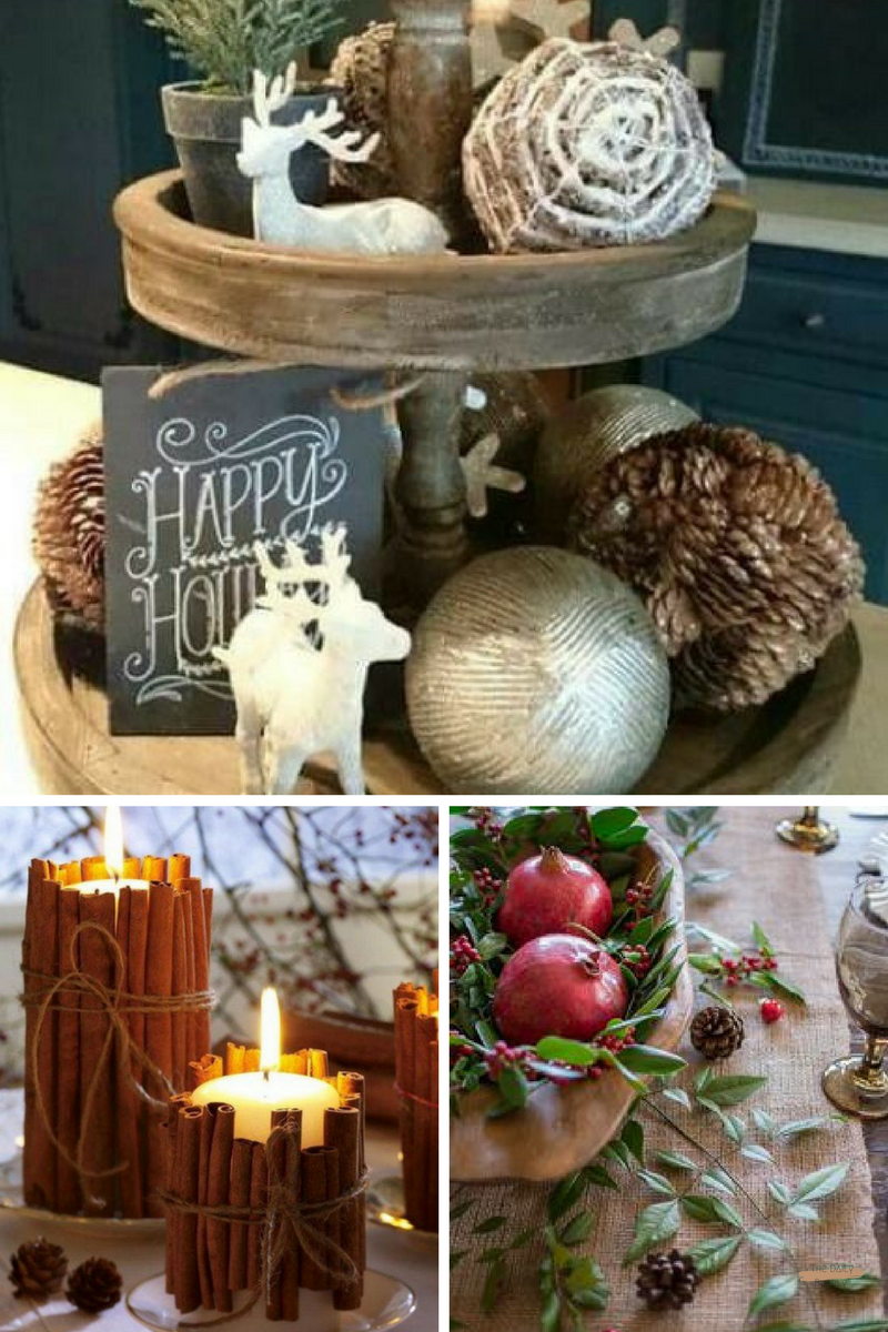 Kitchen Tray Decor   Cinnamon Candles   Tablescape
