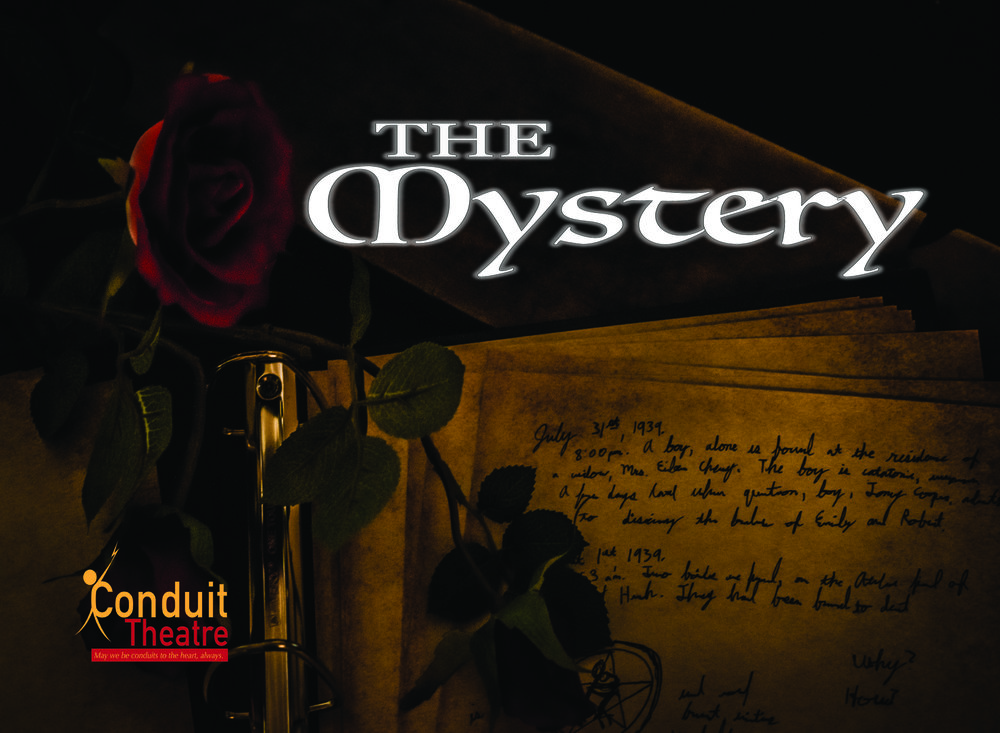 "Promotional Postcard for ""The Mystery"" for the 2017  Minnesota Fringe"