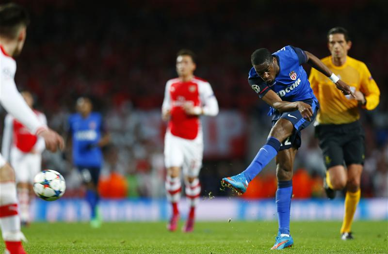 Geoffrey Kondogbia strikes in the Champions League win over Arsenal. He was sold for a tidy profit the next summer to Inter Milan.