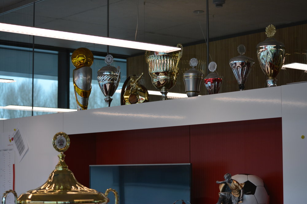 There's some serious hardware on display at the VfB Stuttgart academy.