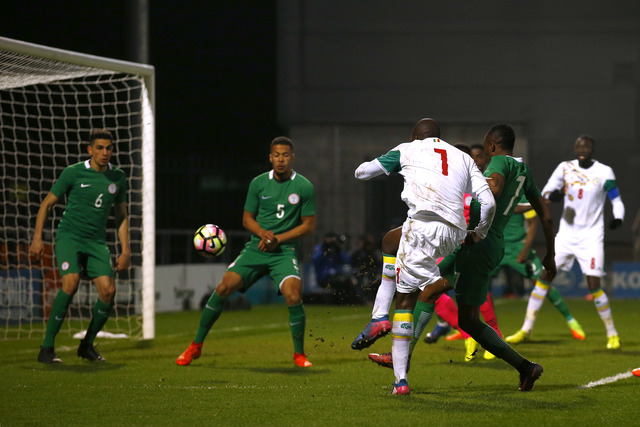 Moussa Sow puts Senegal ahead in the early stages of the second half.