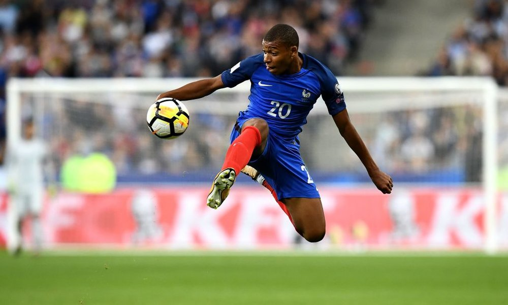 Teenage Mutant Ninja Scorer: 18-year-old Kylian Mbappé is one of France's biggest attractions.