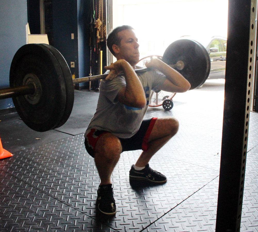 Mark 0 at the bottom of a Front Squat