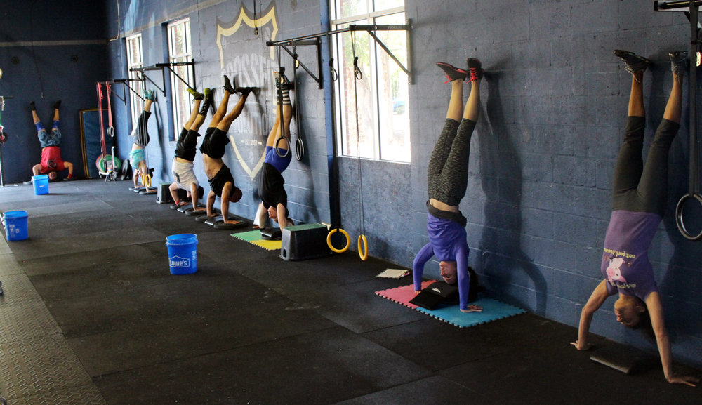 Handstand Push-ups for lunch