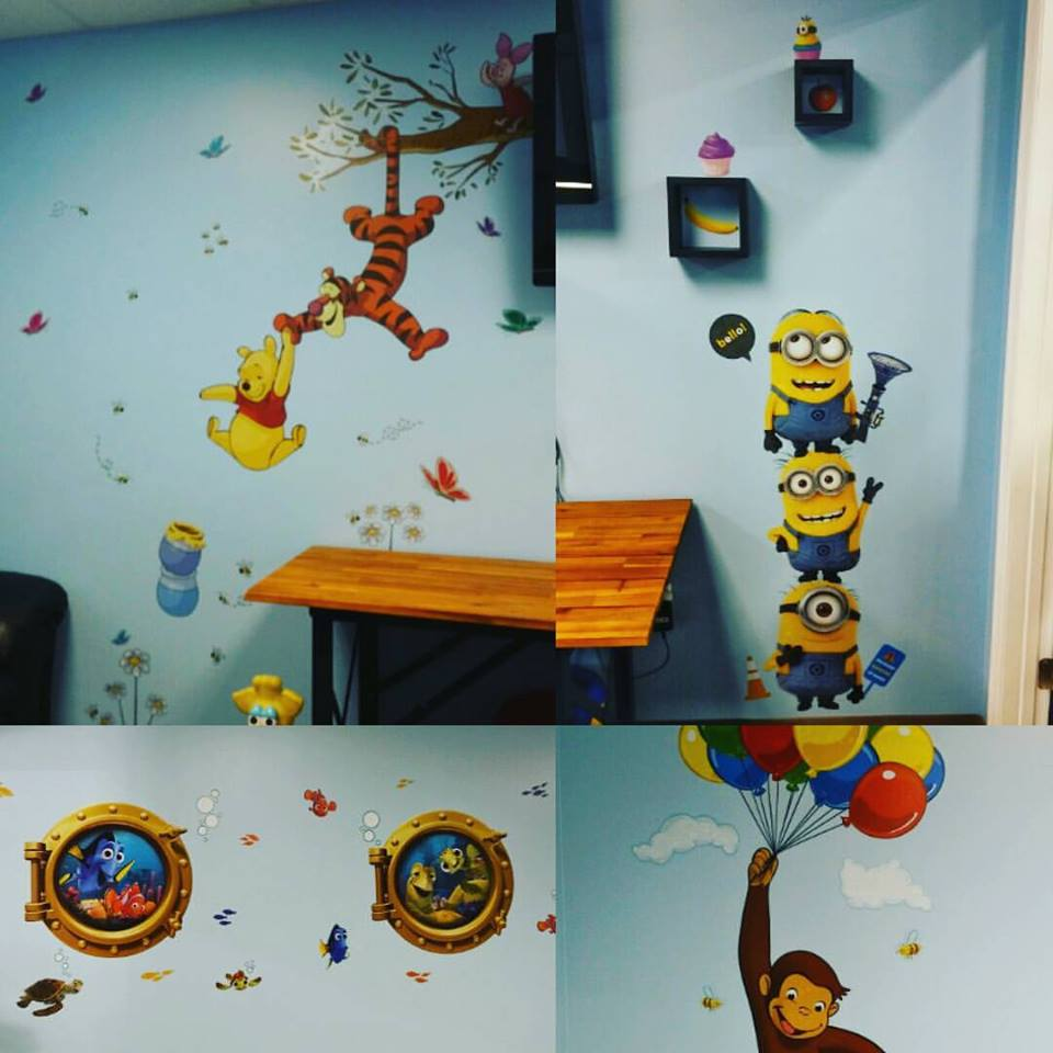 Kids room getting some sweet decorations