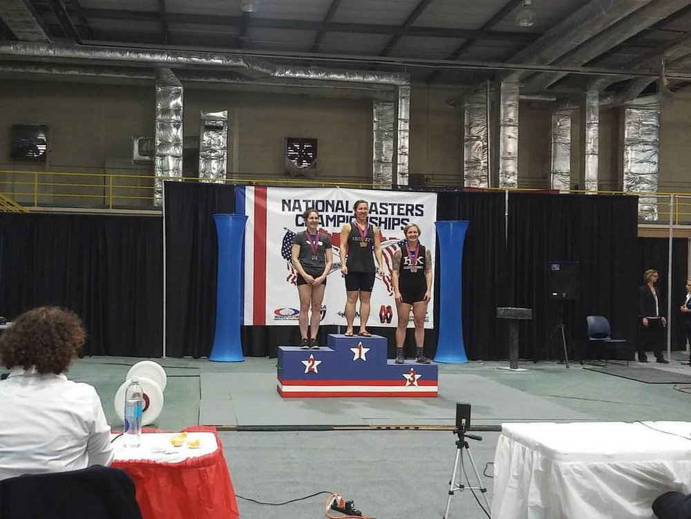 Monique is now 2x Masters National Weightlifting Champion!
