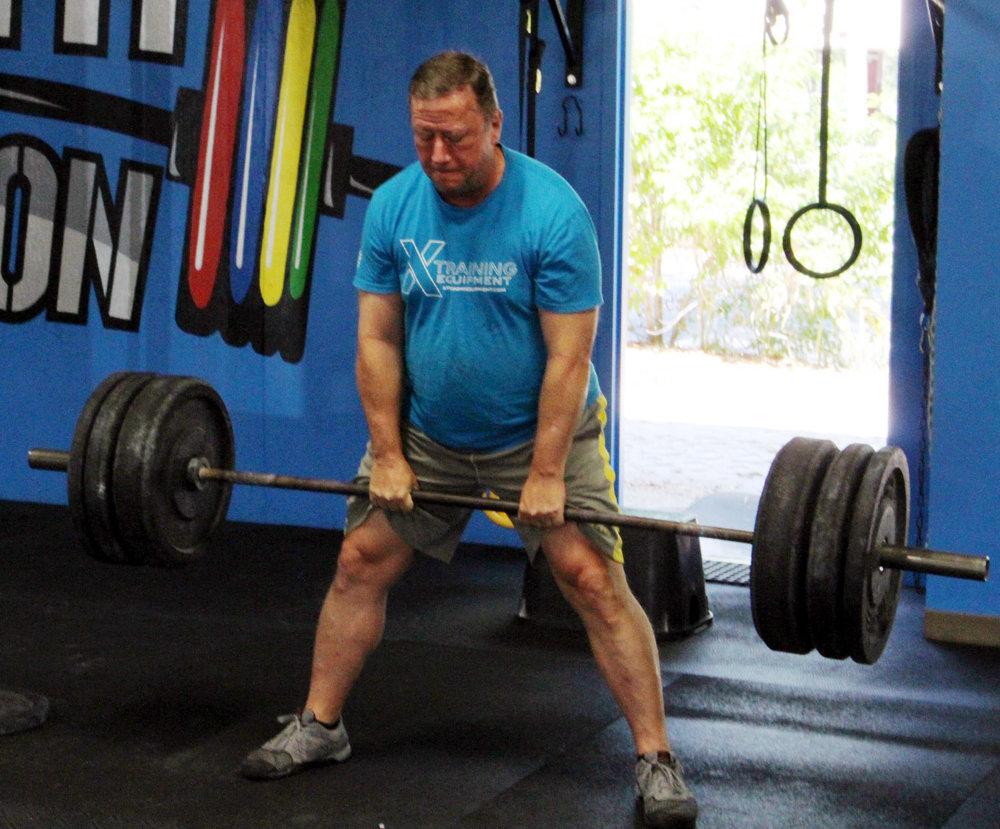 Gary deadlifting 205 lbs