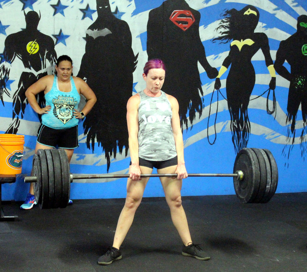 Mary with 163 lbs Deadlift