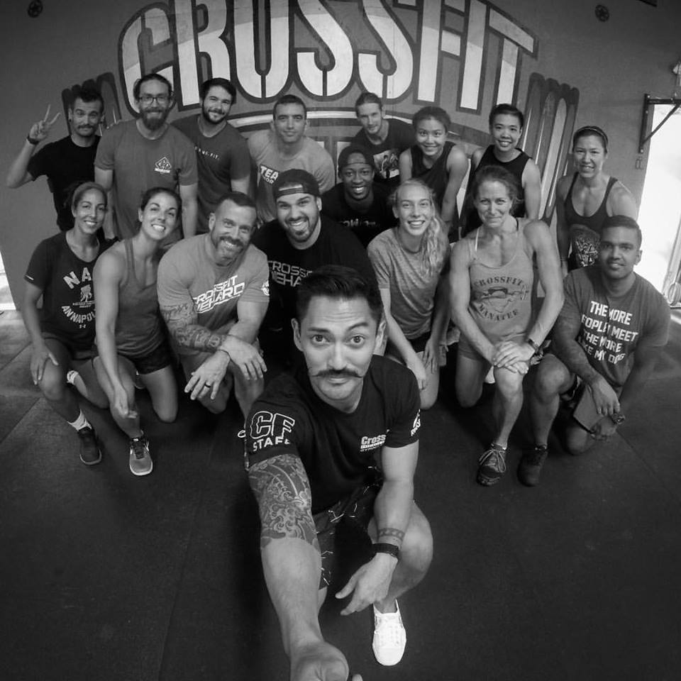 The group from the CrossFit Gymnastics seminar