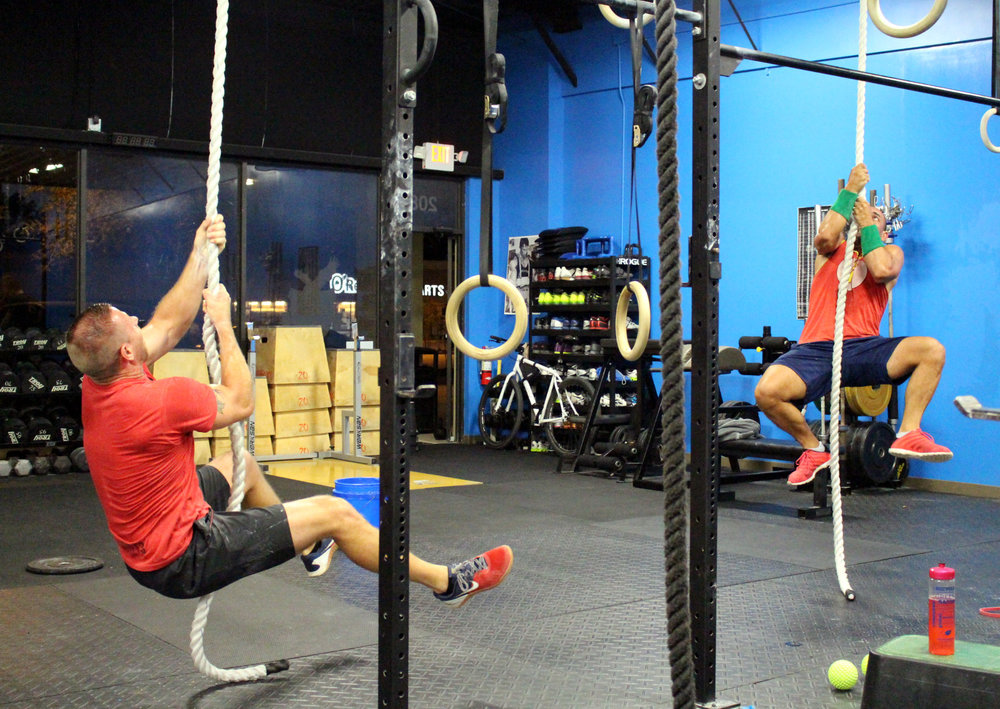 Legless Rope Climbs starting from Seated Position