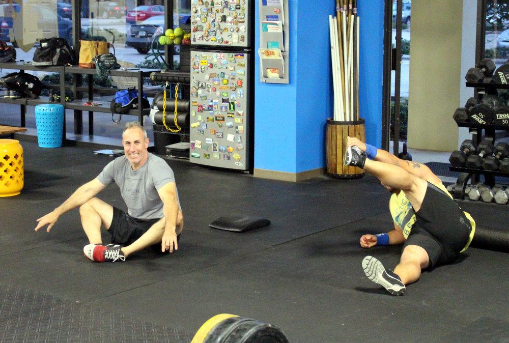 John & Nestor stretching