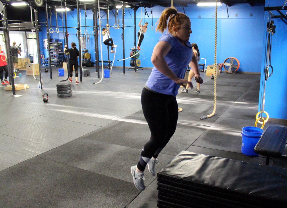 Rebekah jumping
