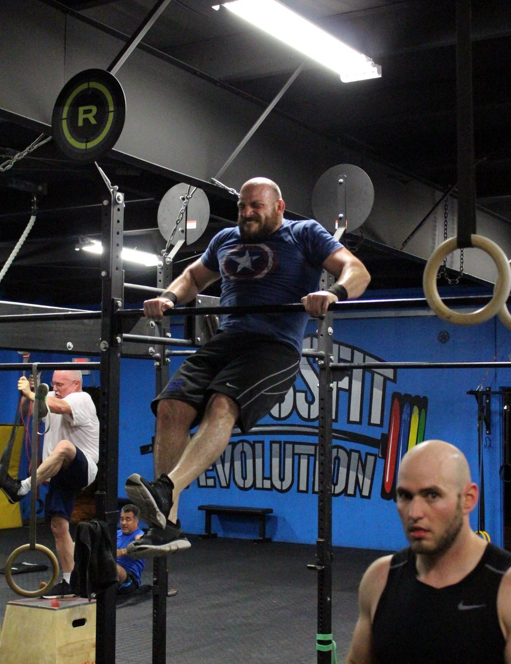 Rob turning over his new & exciting Bar Muscle Ups!