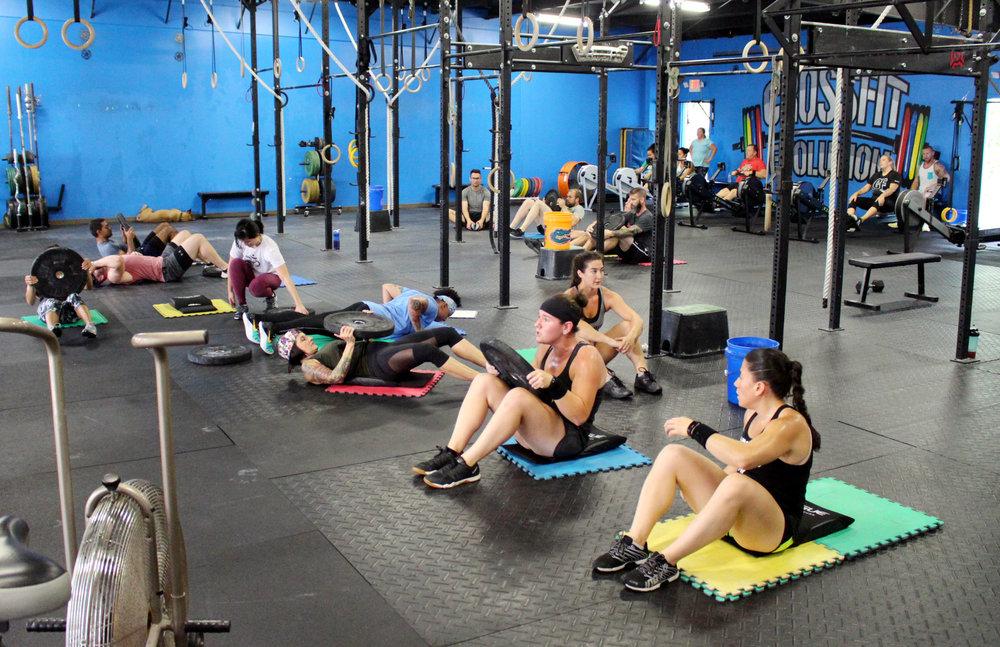 Rowing & Sit-ups