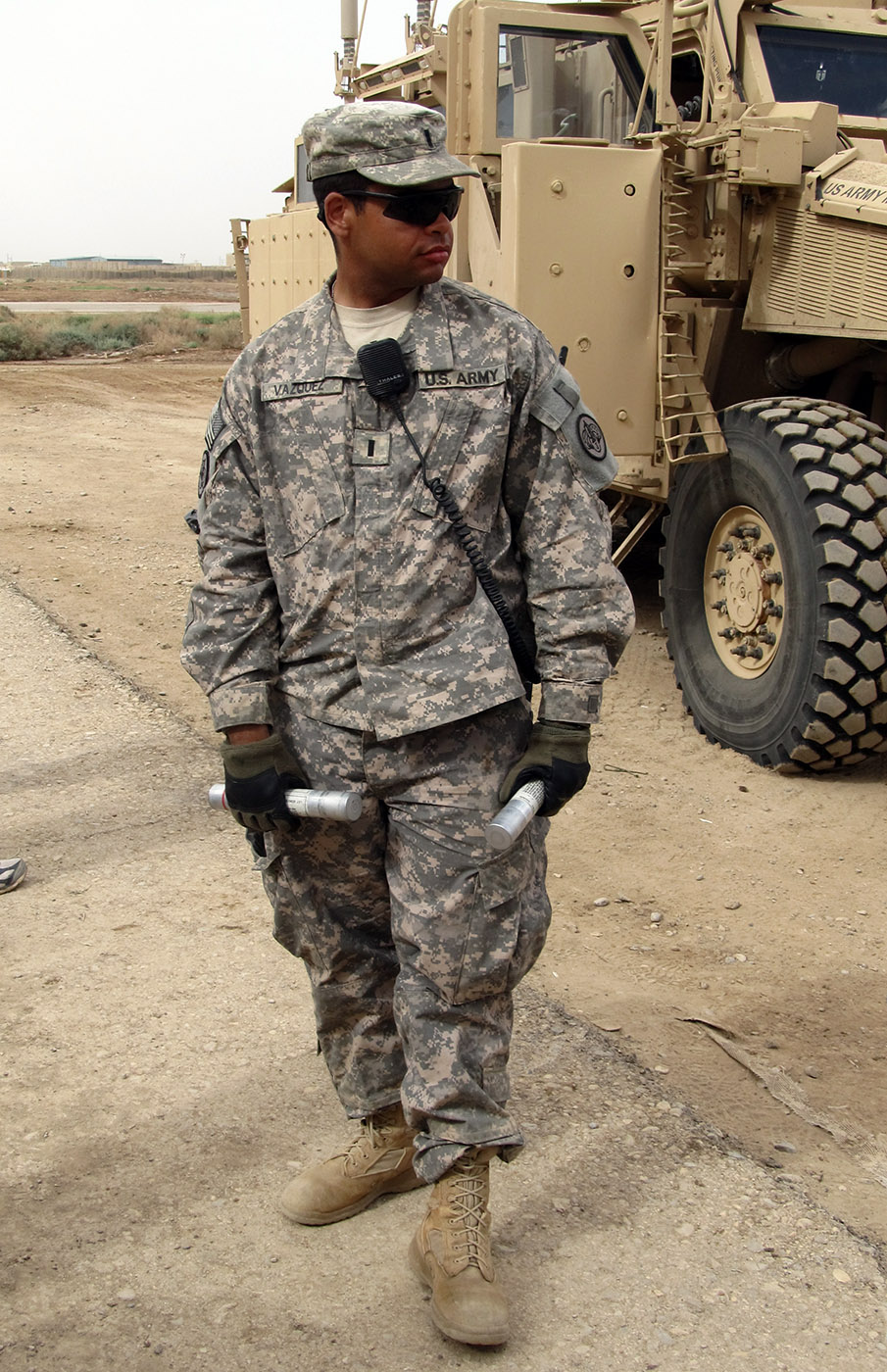 U.S. Army First Lieutenant Omar Vazquez, 25, of Hamilton, New Jersey, assigned to the 2nd Squadron, 3rd Armored Cavalry Regiment, based in Fort Hood, Texas, died of wounds suffered April 22, 2011, when insurgents in Numaniyah, Iraq, attacked his unit with an improvised explosive device. He is survived by his parents Maria and Pablo, sister Marisel, and brothers Pablo and Javier.