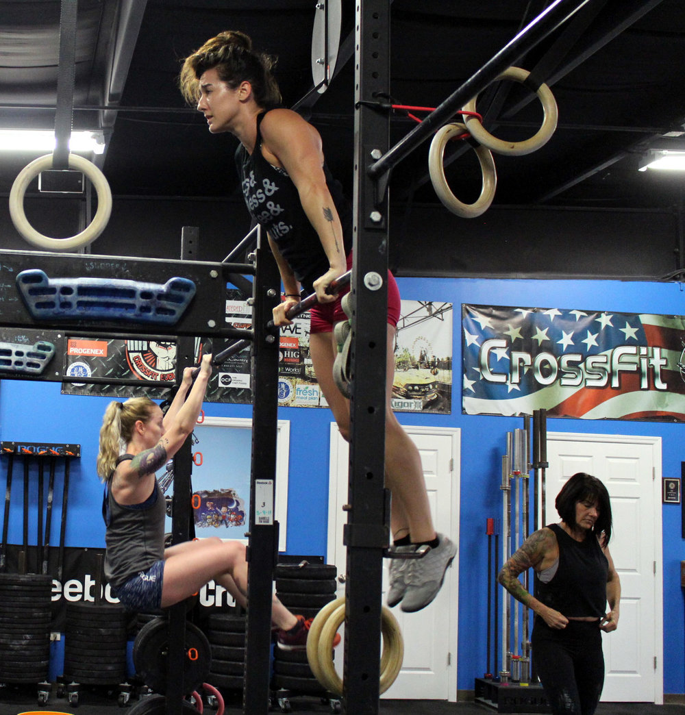 Bar Muscle Ups & Knees to Elbows.