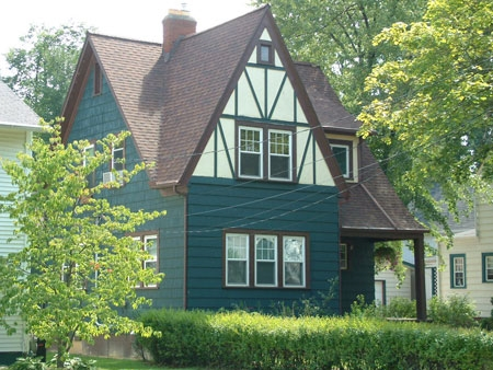Cross Gable--Tudor Revival