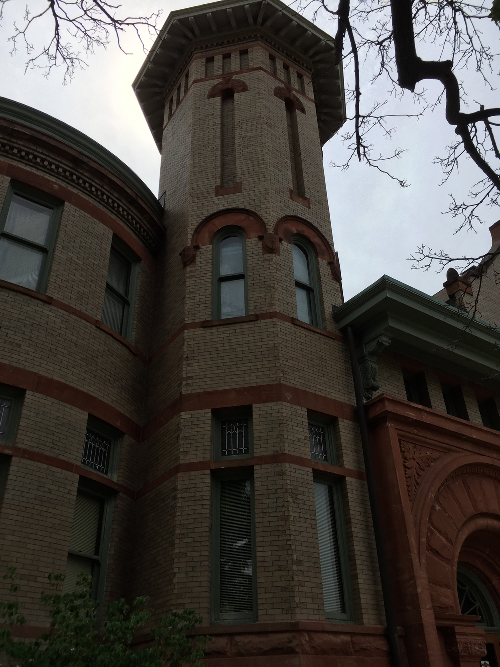 Richardsonian Romanesque Tower