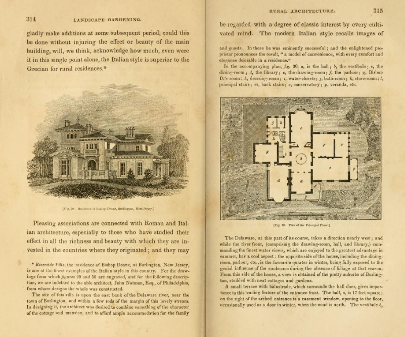 Andrew Jackson Downing's Treatise on the Theory and Practice of Landscape Gardening, Adapted to North America, 1841, pp 314-315.
