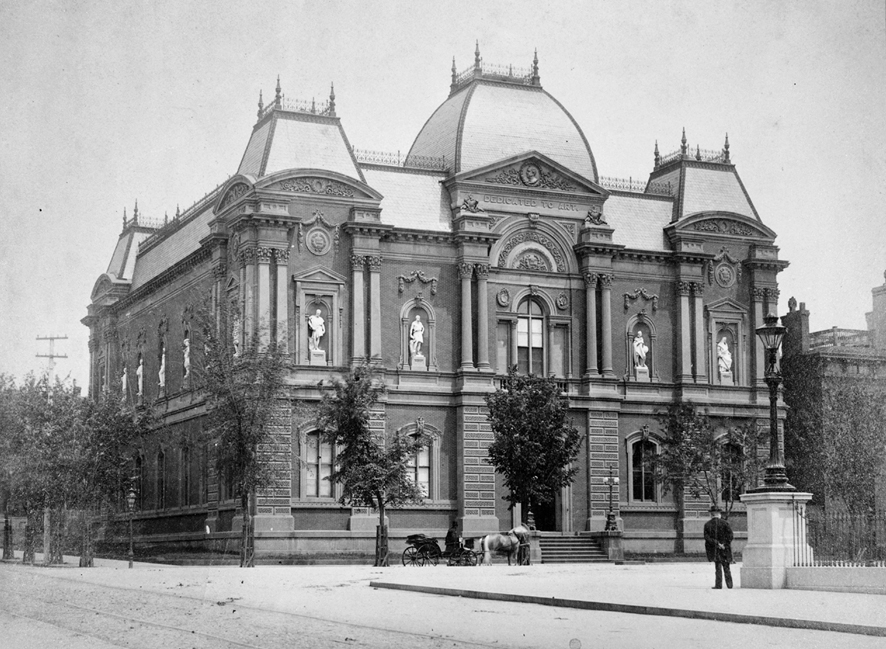 James  Renwick's Corcoran Gallery  in Washington, DC, 1859-71,  photograph from 1884-88