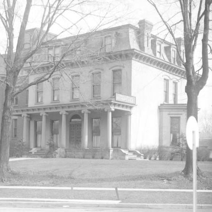 Elihu L. Clark House (destroyed), 413 East Maumee Street, 1869. William and Isabella Cocker moved into this Second Empire style house in 1884.
