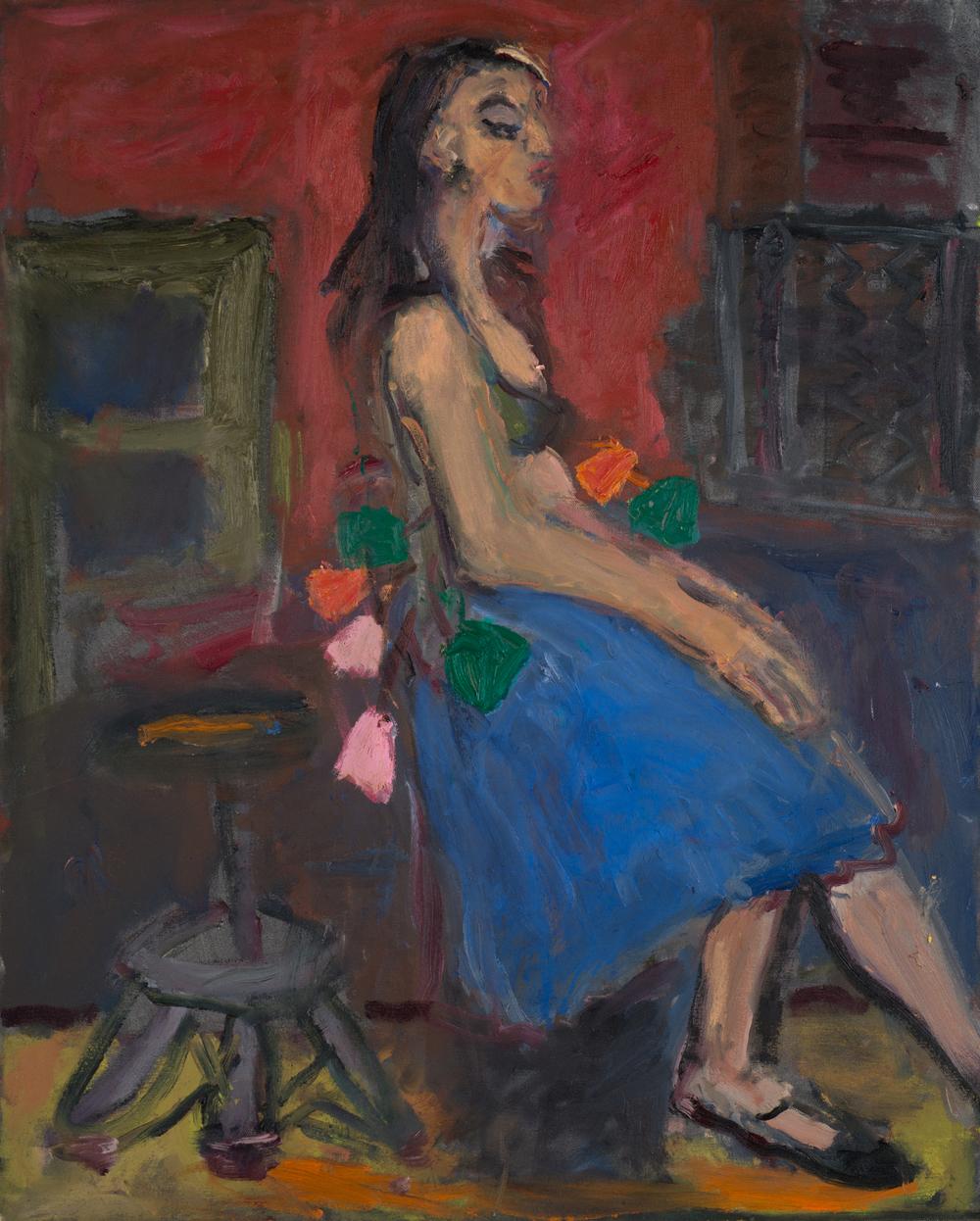 """Spanish Dancer"", oil, 30""x23"", 2016"