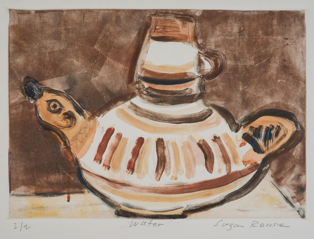 """Mexican Water Jug (Duck)"", monoprint, 26""x20"", 2015"