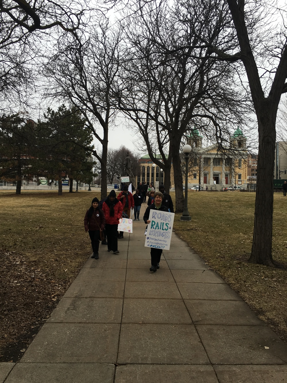 St.Cloud brings new Transpo message to Capitol! #roadsRAILbridges
