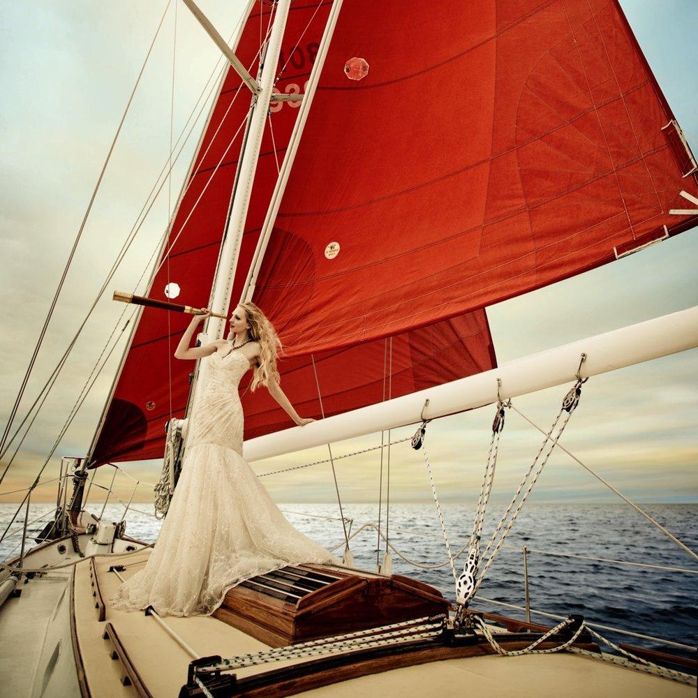 BRIDE AND GROOM MAGAZINE: SEA OF LOVE