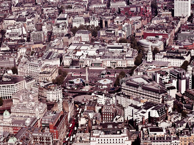 Goodyear Blimp Airship London Flight London Aerial Photography Hasselblad Jay McLaughlin Trafalgar Square Nelson's Column