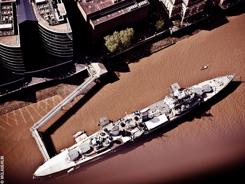 Goodyear Blimp Airship London Flight London Aerial Photography Hasselblad Jay McLaughlin HMS Belfast