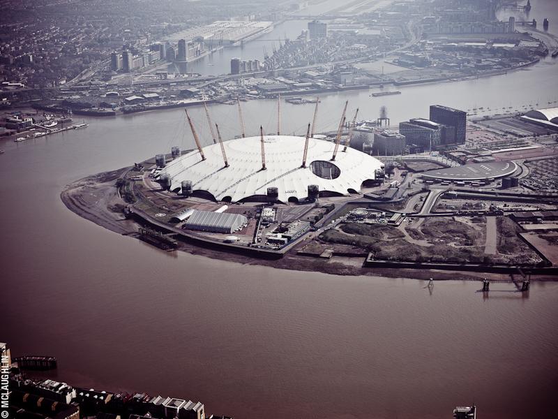 Goodyear Blimp Airship London Flight London Aerial Photography Hasselblad Jay McLaughlin O2 Arena Millennium Dome