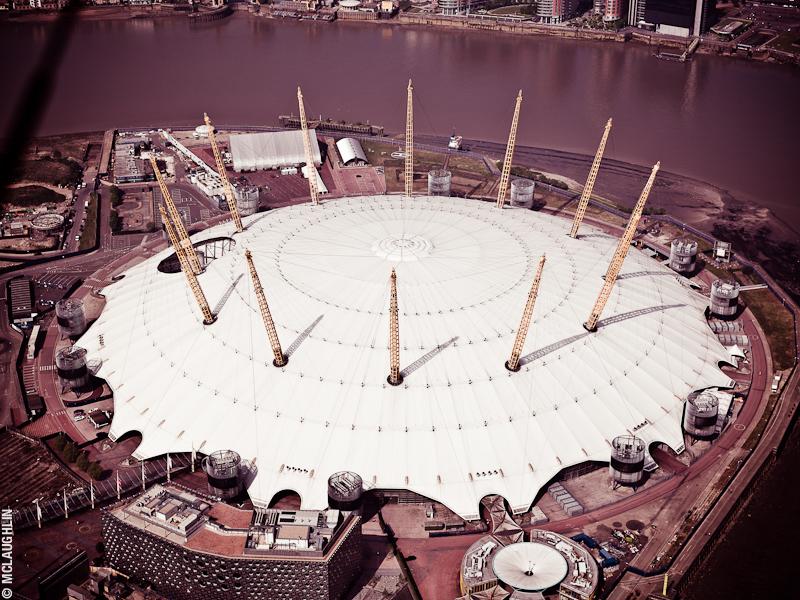 Goodyear Blimp Airship London Flight London Aerial Photography Hasselblad Jay McLaughlin Millennium Dome O2 Arena