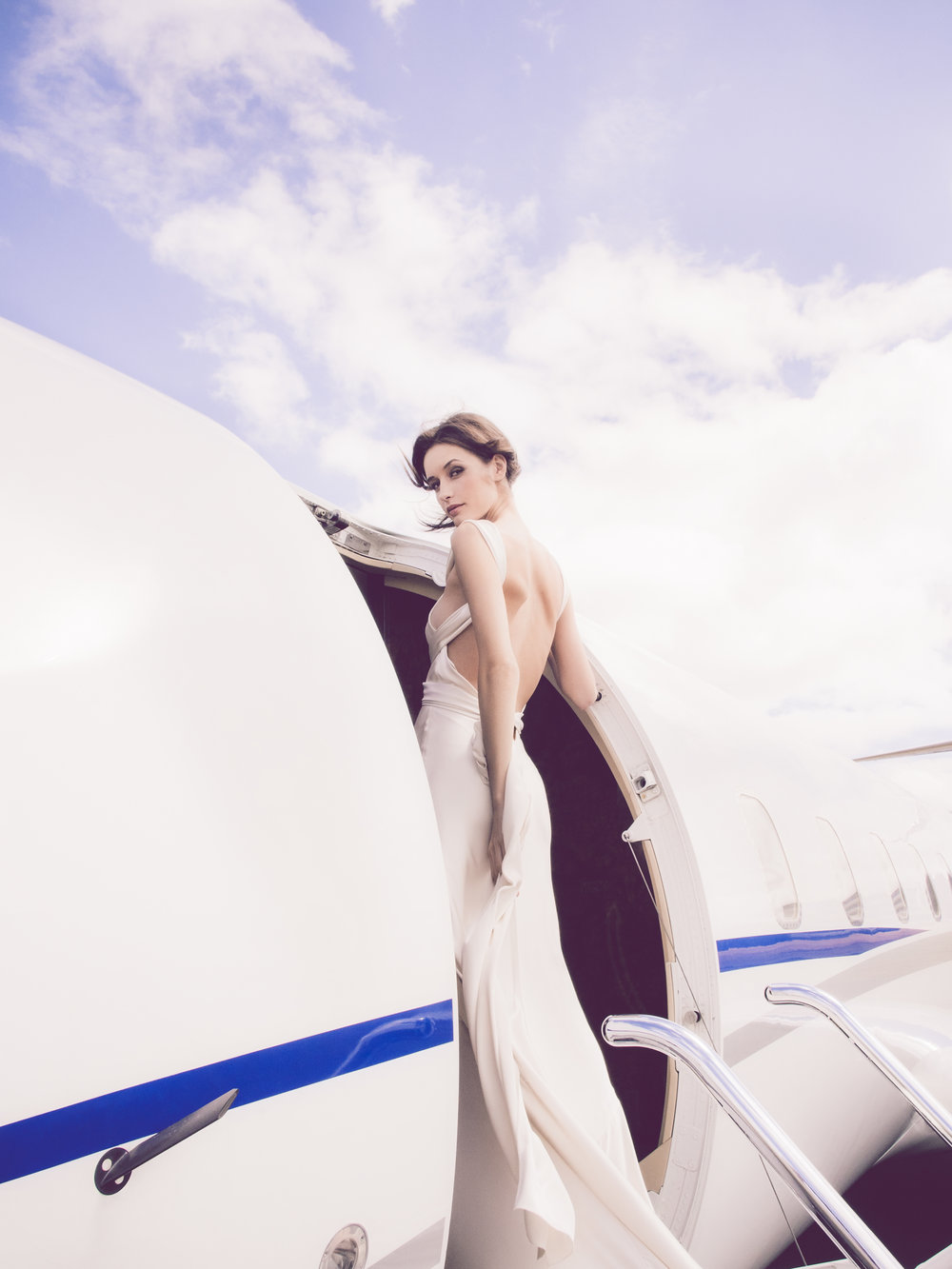 Olympus OM-D E-M5 12mm f/2.0 Lens Wide Angle Aviator By Tag Farnborough Amanda Wakeley Bridal Model Private Jet