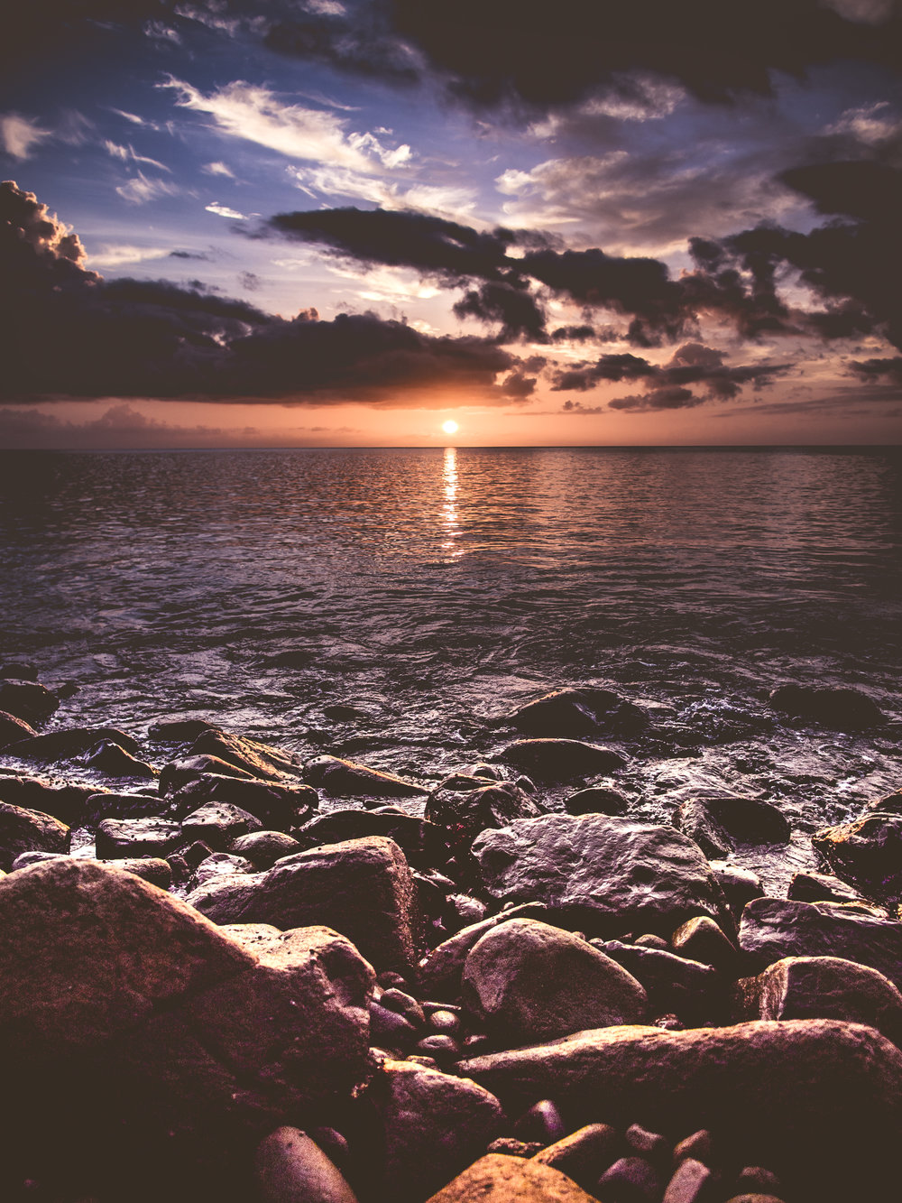 Olympus PEN 12mm f/2.0 Lens Wide Angle Sunset St Lucia C'est La Vie Beach Rocks Sea