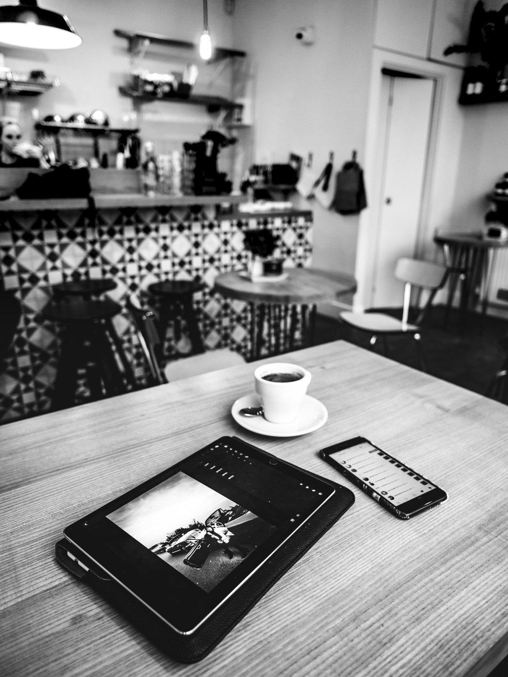 iPad Adobe Lightroom Creative Cloud iPhone Mae and Harvey Roman Road East London Coffee Shop Cafe Zara Martin Monaco Monte Carlo Editing Apple Pencil