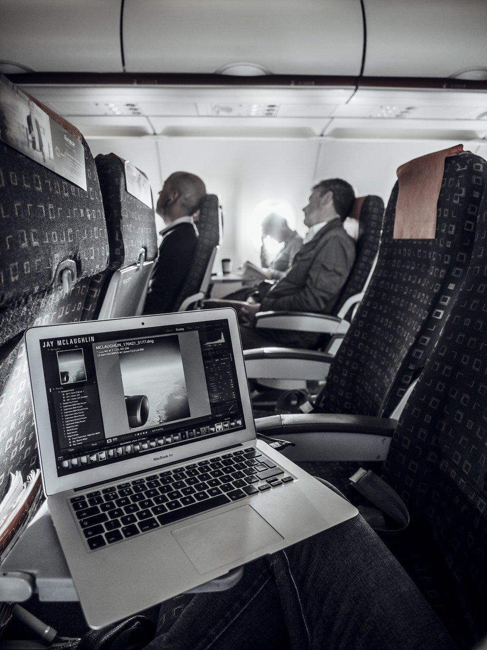 Macbook Air Laptop Adobe Lightroom EasyJet Plane Airplane Aeroplane Flight Travel Editing Photography Photos