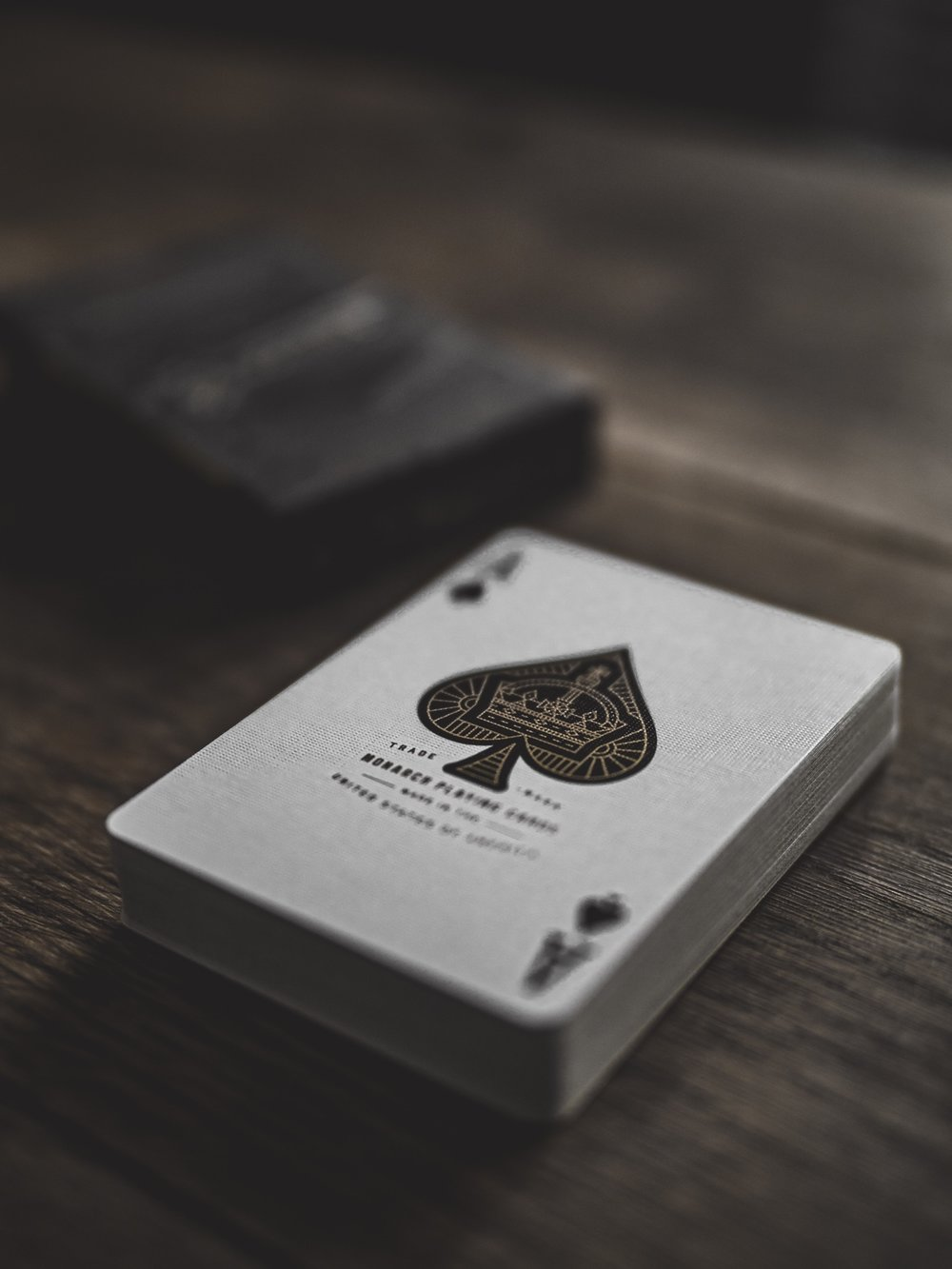 Cards Cardistry Playing Ace of Spades