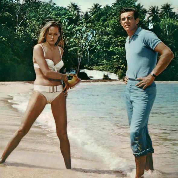 James Bond Style Icon 007 Sean Connery Beach Bikini Bond Girl Sea