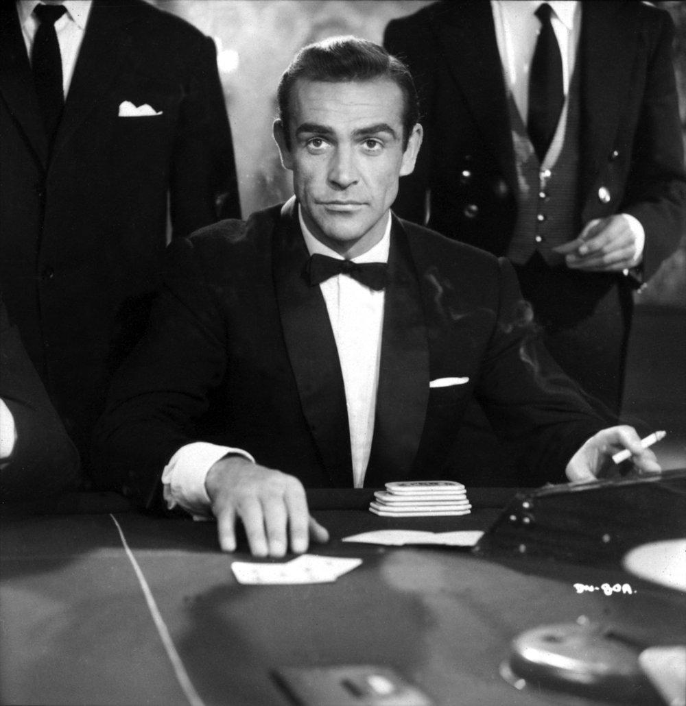 James Bond Style Icon 007 Poker Sean Connery