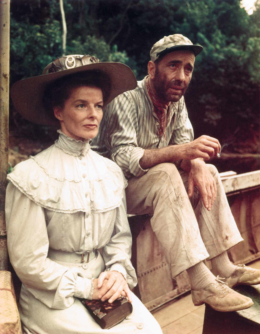 Humphrey Bogart Katherine Hepburn The African Queen Classic Movie Review