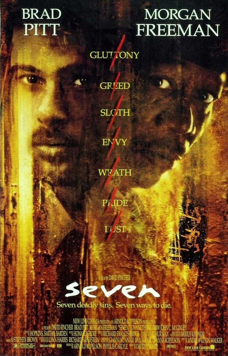 Se7en Seven Brad Pitt Morgan Freeman Gwyneth Paltrow Kevin Spacey movie review