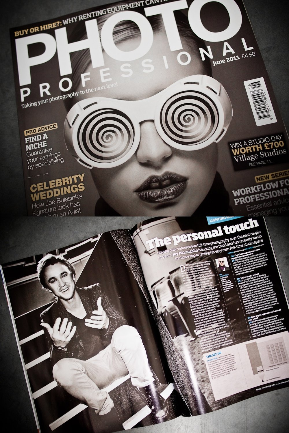 Photo Professional Magazine June 2011 Cover Jay McLaughlin Feature Article Interview Tom Felton Draco Malfoy Harry Potter