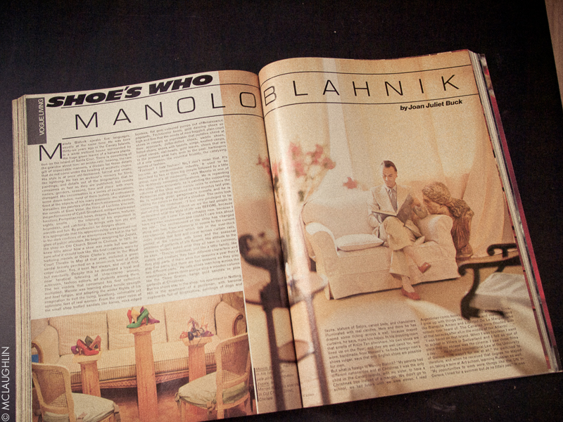 Vogue Vintage December 1979 Manolo Blahnik
