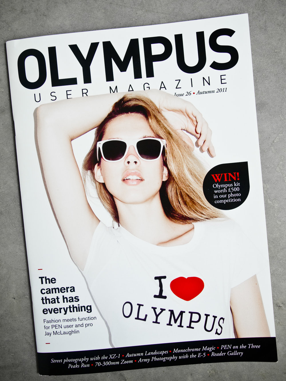 Olympus User Magazine Cover Feature Interview Article Jay McLaughlin PEN E-PL1
