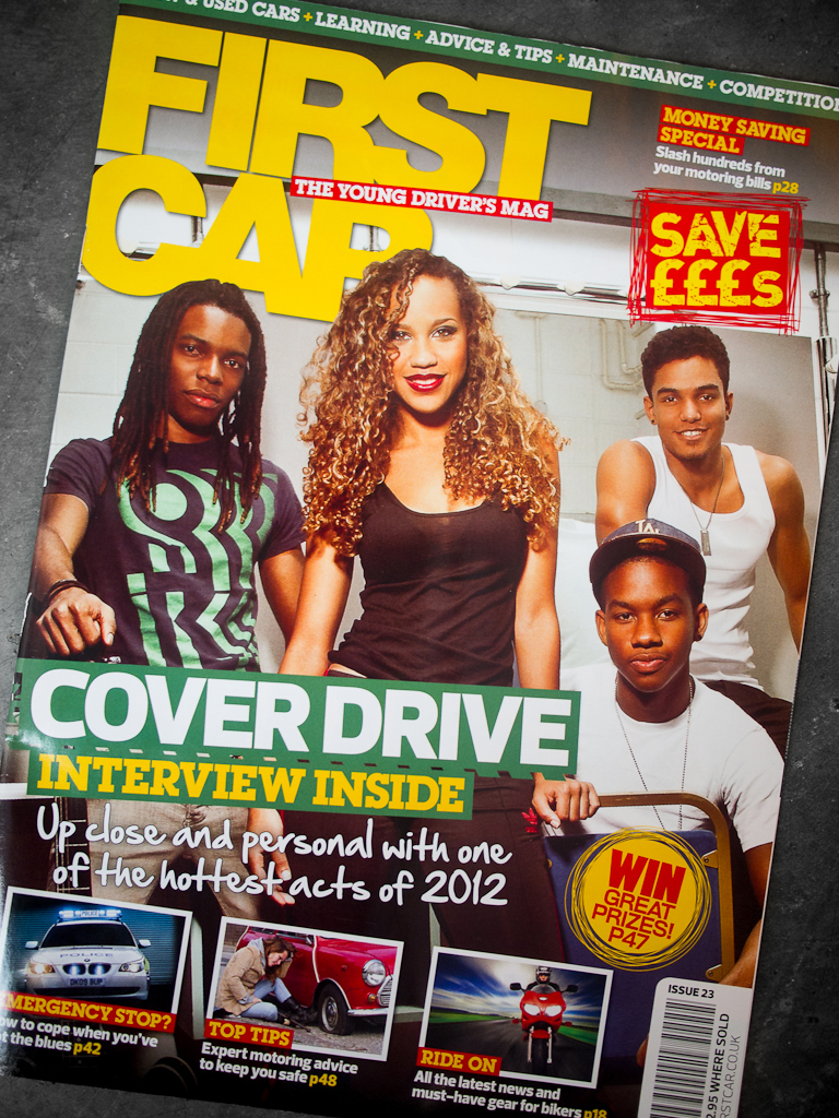 First Car Magazine Cover Photoshoot Editorial Cover Drive Band Music Bajan Barbados Group Jay McLaughlin