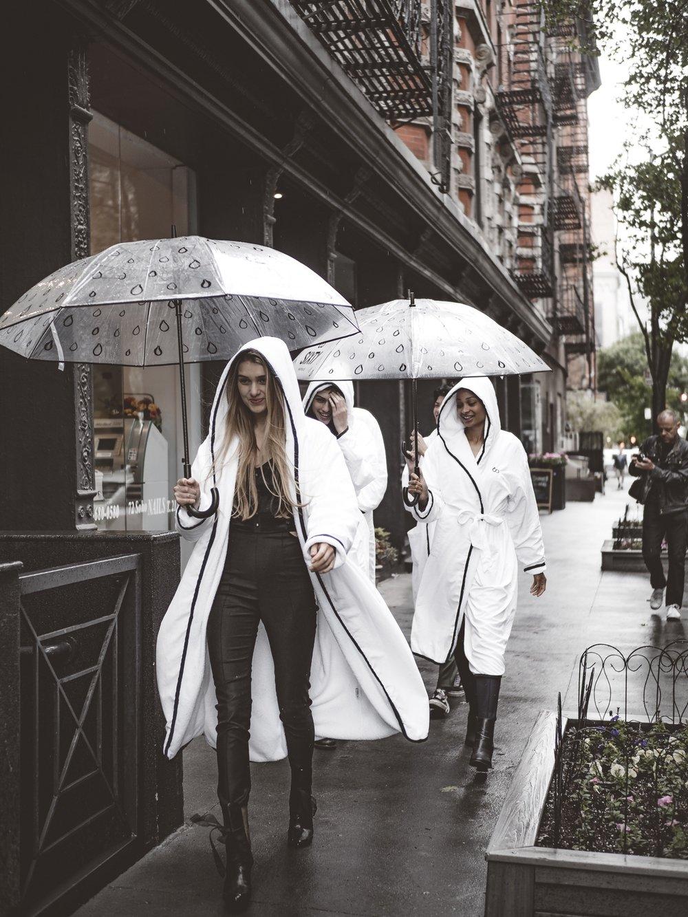 BTS NYC Models Rain